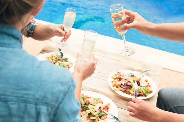 Host a Mother's Day poolside brunch