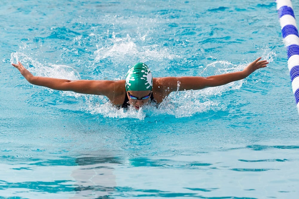 Swimming helps your core and your back